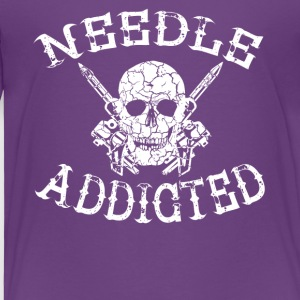 Needle addicted tattoo tattooed needle longing - Kids' Premium T-Shirt
