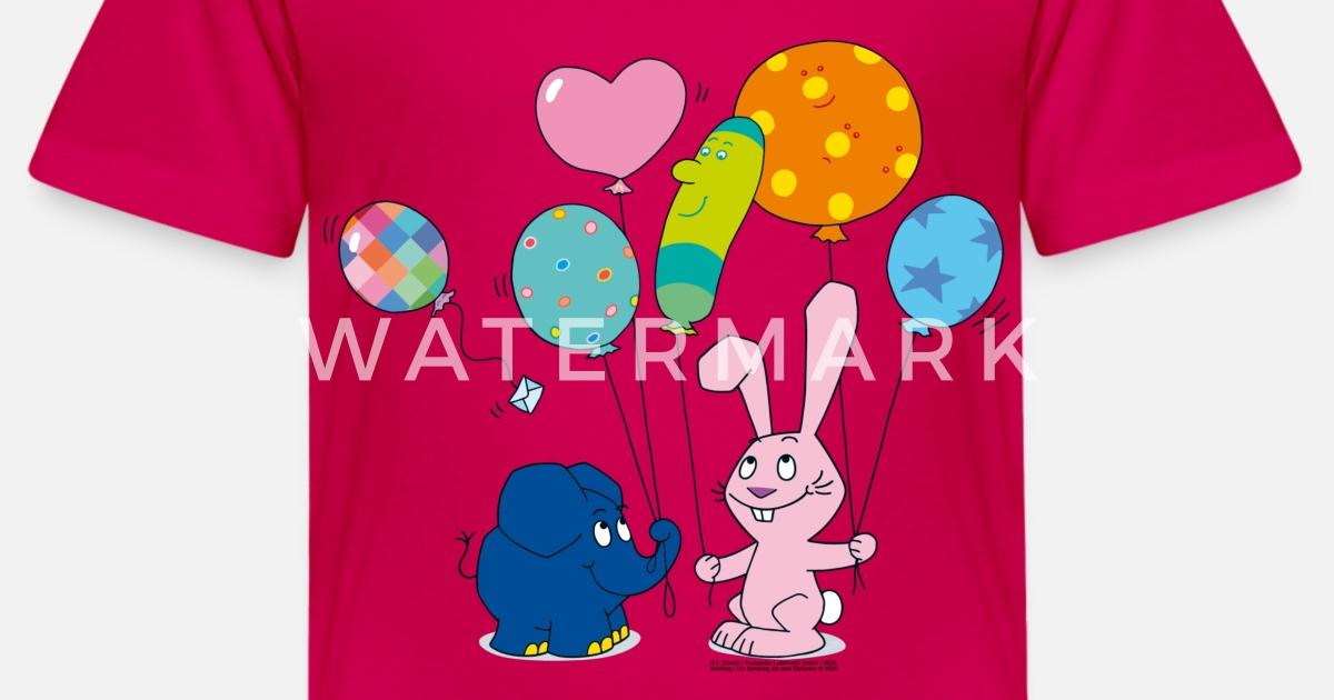elefant und hase  luftballons kinder premium tshirt
