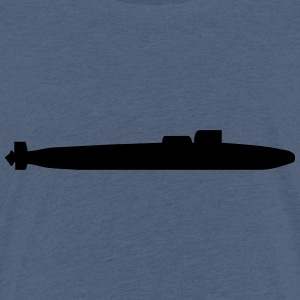 Vector Navy warship Silhouette - Kids' Premium T-Shirt