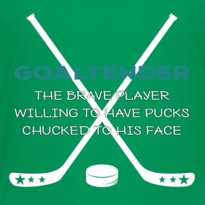 Hockey: goaltender - The Brave spiller Willing - Børne premium T-shirt