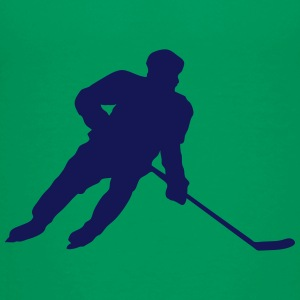 Hockey player silhouette ice skate