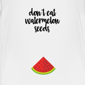 Dont eat watermelon seeds - black - Teenage Premium T-Shirt