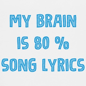 My brain 80 liric - musik - Teenager Premium T-Shirt