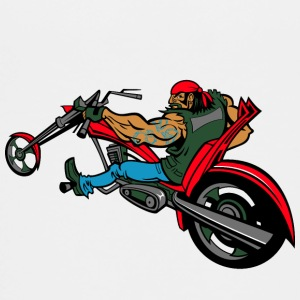 Biker på chopper - Teenager premium T-shirt