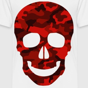 RED SKULL CAMO TEES - Teenage Premium T-Shirt