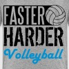 Faster, harder, Volleyball - Teenager Premium T-Shirt