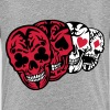 Skull poker card head dead heart - Teenage Premium T-Shirt