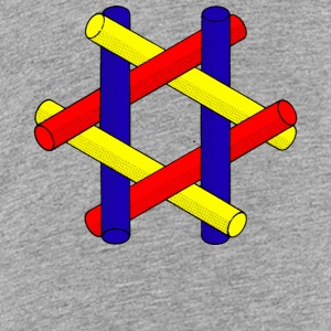 Optisk Illusion Pipes Design - Teenager premium T-shirt