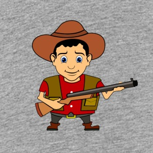 Cowboy Wild West Sheriff - Teenage Premium T-Shirt