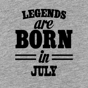 Legends are born in July - Teenage Premium T-Shirt