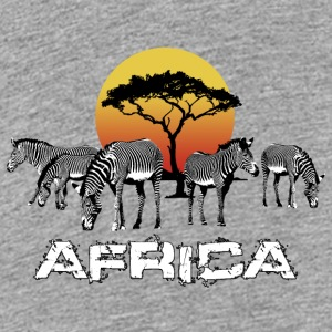 Zebra Afrique Sunset Wildlife Safari Kenya - T-shirt Premium Ado
