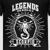 legends are born scorpio Scorpio birthday star - Teenage Premium T-Shirt