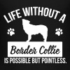 Dog: Life without a Border Collie is pointless - Teenage Premium T-Shirt