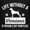 Dog shirt: Life without a Weimaraner is pointless - Teenager Premium T-shirt