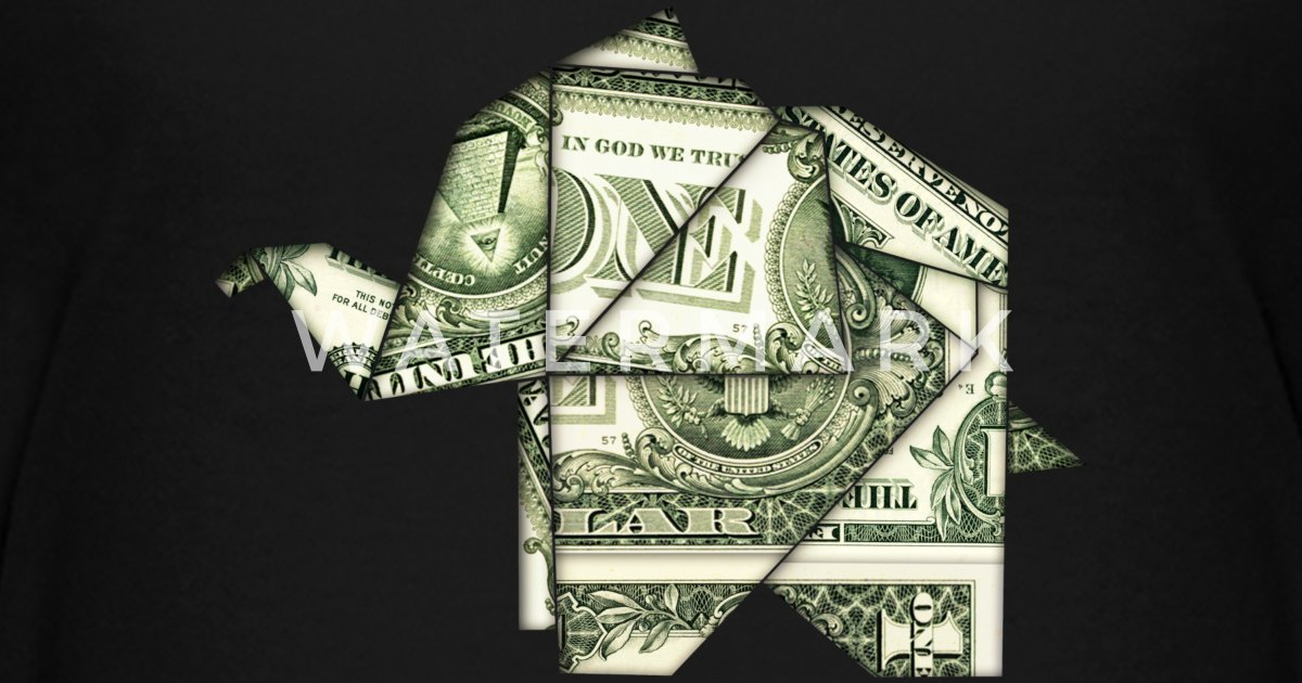 Origami Elephant Elefant Dollar Bill Usa Fun By Lavalova