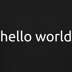 HelloWorld hvid - Teenager premium T-shirt