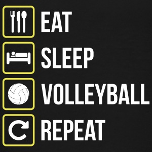 Eat Sleep Volleyball Repeat - Teenage Premium T-Shirt