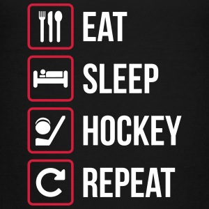 Eat Sleep Hockey Repeat - Teenage Premium T-Shirt