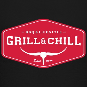 Grill and Chill / BBQ and Lifestyle Origin Logo - Teenager Premium T-Shirt