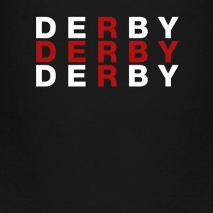 Derby United Kingdom Flag Shirt - Derby T-Shirt - Teenage Premium T-Shirt