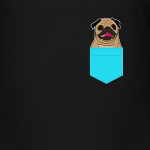 Pocket Pug Dog - Teenage Premium T-Shirt