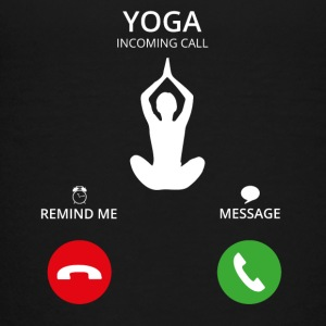 Ring Mobile Call yoga - Premium-T-shirt tonåring