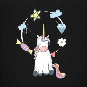 Unicorn cirkulation fantasi slik mad kærlighed - Teenager premium T-shirt