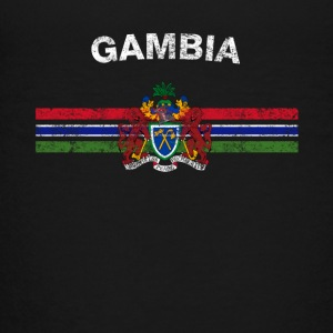 Gambian Flag Shirt - Gambian Emblem & Gambia Flag - Teenage Premium T-Shirt