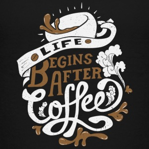 Life Begins after coffee - Teenage Premium T-Shirt