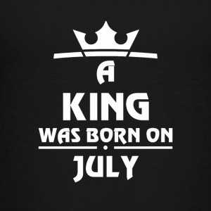 A KING WAS BORN ON JULY - Teenage Premium T-Shirt