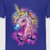 Eenhoorn, paard, magi, unicorn, rainbow, fantasy,  - Teenager Premium T-shirt