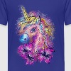 Unicorn, rainbow, fantasy, magic, horse, pony - Teenage Premium T-Shirt