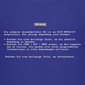 bluescreen (deutsch / german language)