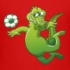 Crocodile Heading a Foot Ball - Teenage Premium T-Shirt