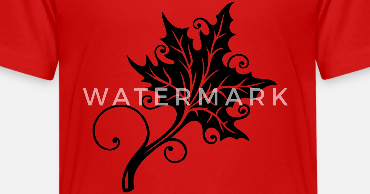 Herbst Blatt Ahorn Tattoo Style Teenager Premium T Shirt