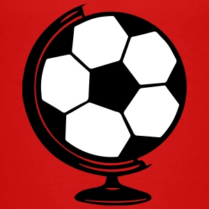 Soccer Globe World 2c - Teenage Premium T-Shirt
