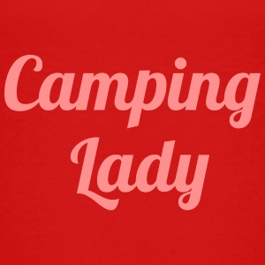 Camping Lady - Teenage Premium T-Shirt