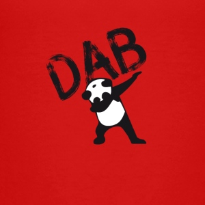 Dab dabbing panda bear slogan touchdown football hi - Teenage Premium T-Shirt