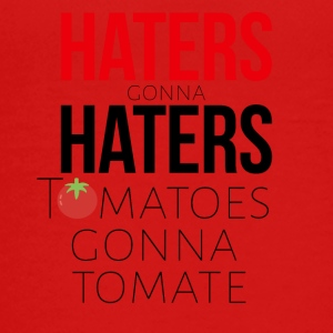 Haters gonna hadere og tomater skal nok tomate - Teenager premium T-shirt