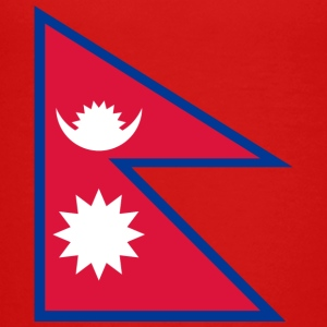 Nationalflagge von Nepal - Teenager Premium T-Shirt