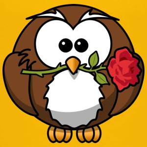 Owl with rose - Teenage Premium T-Shirt