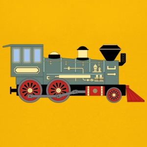 Vintage Train - Premium-T-shirt tonåring