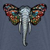 African elephant with butterfly ears, africa, art - Teenage Premium T-Shirt