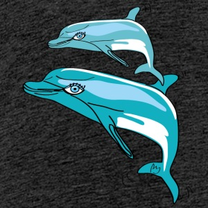 Dolphins, illustration - Teenage Premium T-Shirt