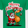 Merry Christmas - Santa Claus and his reindeer - Teenage Premium T-Shirt