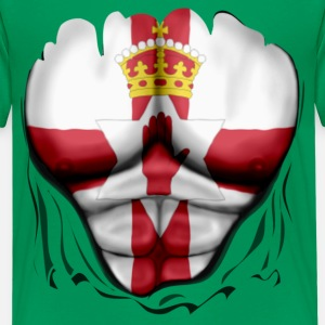 Northern Ireland Flag Ripped Muscles, six pack, chest t-shirt