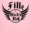 Fille Rock and roll - Body bébé bio manches longues