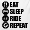 eat_sleep_ride_repeat_1_1f - Økologisk langermet baby-body