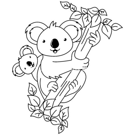 Koala Ours Coloriage Peinture Anniversaire Des Enfants Body Bebe Bio Manches Longues Spreadshirt