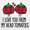 I love you from my head tomatoes - Organic Longsleeve Baby Bodysuit